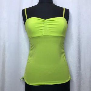 Lululemon lime/neon green cinch sides/front tank